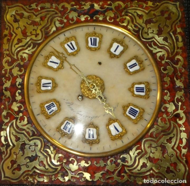 Relojes de pared: RELOJ NAPOLEÓN III BULLE SIGLO XIX INCRUSTACIONES DE NACAR Y BRONCES AL FUEGO DORADO. - Foto 2 - 180017312