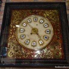 Relojes de pared: RELOJ NAPOLEÓN III BULLE SIGLO XIX INCRUSTACIONES DE NACAR Y BRONCES AL FUEGO DORADO.. Lote 180017312