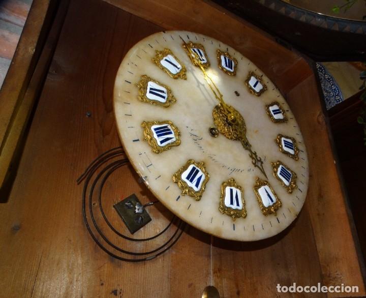 Relojes de pared: RELOJ NAPOLEÓN III BULLE SIGLO XIX INCRUSTACIONES DE NACAR Y BRONCES AL FUEGO DORADO. - Foto 12 - 180017312