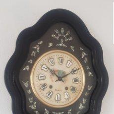 Relojes de pared: RELOJ OJO BUEY ANTIGUO MÁQUINA MOREZ CASI A ESTRENAR ESFERA ALABASTRO MUY DETALLADO FUNCIONA MIRA . Lote 180110622