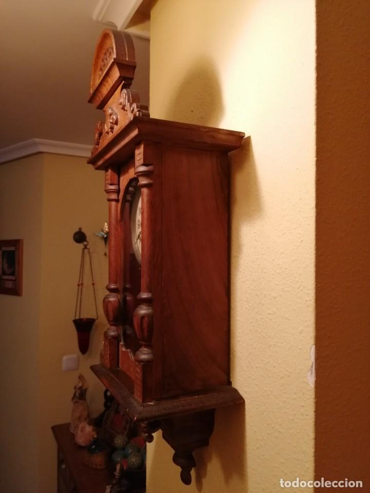 Relojes de pared: ANTIGUO RELOJ DE PARED CON ALARMA-DESPERTADOR. MECÁNICO Y FUNCIONANDO. - Foto 4 - 180139091