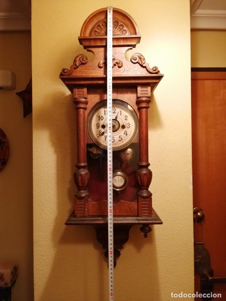 Relojes de pared: ANTIGUO RELOJ DE PARED CON ALARMA-DESPERTADOR. MECÁNICO Y FUNCIONANDO. - Foto 5 - 180139091