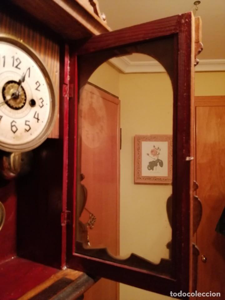 Relojes de pared: ANTIGUO RELOJ DE PARED CON ALARMA-DESPERTADOR. MECÁNICO Y FUNCIONANDO. - Foto 11 - 180139091