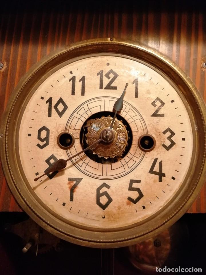 Relojes de pared: ANTIGUO RELOJ DE PARED CON ALARMA-DESPERTADOR. MECÁNICO Y FUNCIONANDO. - Foto 14 - 180139091
