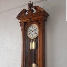 Relojes de pared: RELOJ REGULADOR VIENES GUSTAV BECQUER PRIMERA ÉPOCA GOLIAT MIDE 152M DETALLES RAÍZ OLIVO FUNCIONA . Lote 180205127