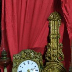 Relojes de pared: GRAN RELOJ MOREZ DE CAMPANA PENDULO REAL SIGLO XIX. Lote 180269910