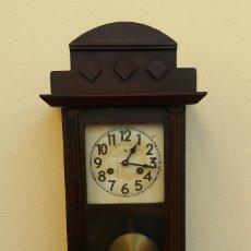 Relojes de pared: MAGNÍFICO RELOJ DE PARED ALEMAN DE CARGA MANUAL JUNGHANS, SIGLO XIX, TODO ORIGINAL. FUNCIONANDO. Lote 180909451