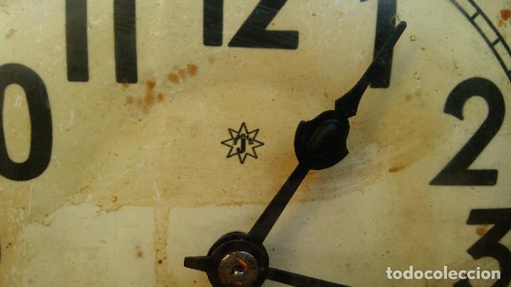Relojes de pared: MAGNÍFICO RELOJ DE PARED ALEMAN DE CARGA MANUAL JUNGHANS, SIGLO XIX, TODO ORIGINAL. FUNCIONANDO - Foto 7 - 180909451