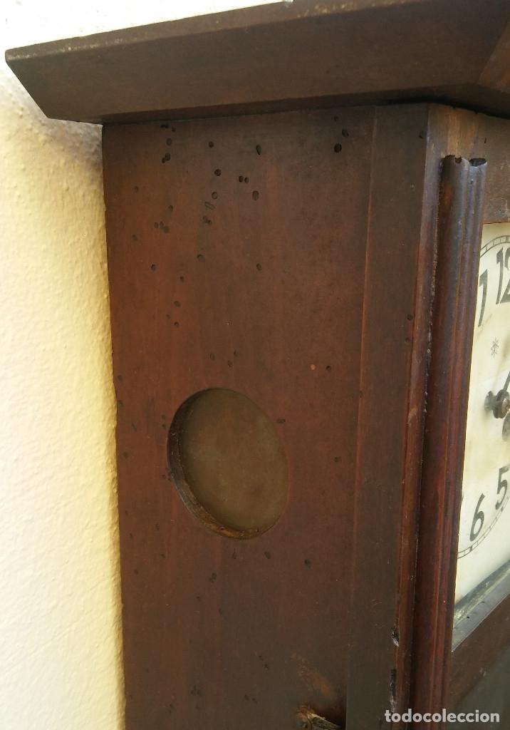 Relojes de pared: MAGNÍFICO RELOJ DE PARED ALEMAN DE CARGA MANUAL JUNGHANS, SIGLO XIX, TODO ORIGINAL. FUNCIONANDO - Foto 9 - 180909451