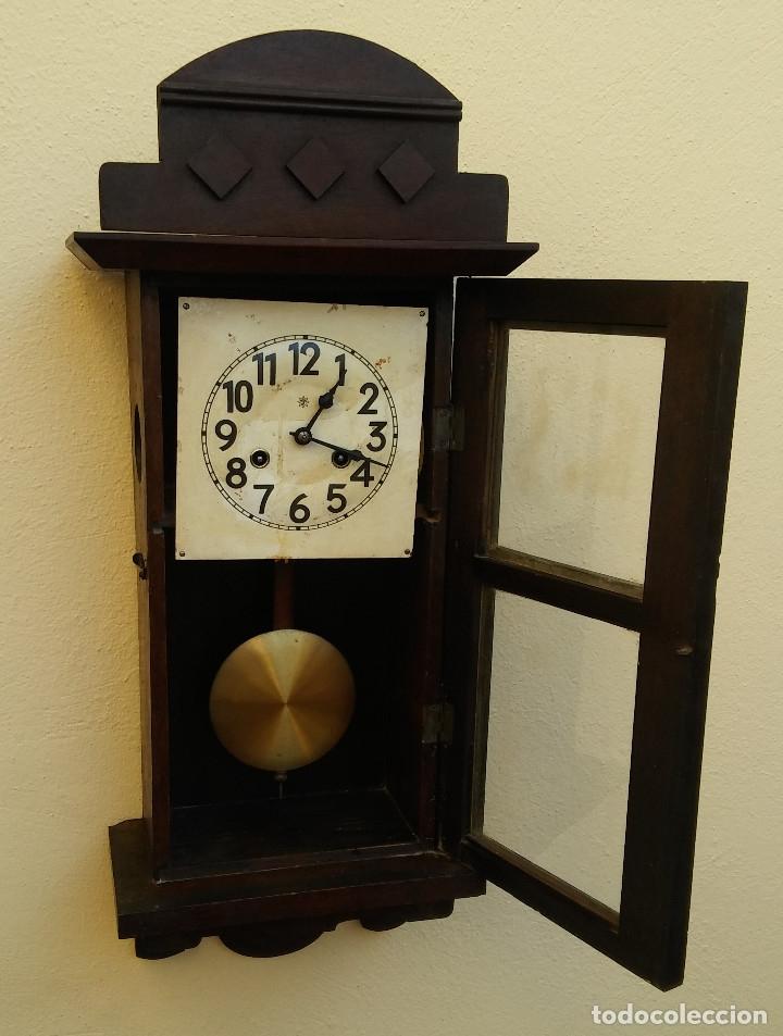 Relojes de pared: MAGNÍFICO RELOJ DE PARED ALEMAN DE CARGA MANUAL JUNGHANS, SIGLO XIX, TODO ORIGINAL. FUNCIONANDO - Foto 11 - 180909451