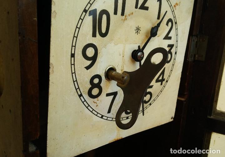 Relojes de pared: MAGNÍFICO RELOJ DE PARED ALEMAN DE CARGA MANUAL JUNGHANS, SIGLO XIX, TODO ORIGINAL. FUNCIONANDO - Foto 13 - 180909451