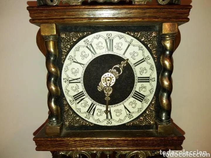 Relojes de pared: Reloj Alemán, aprox año 1850 madera y bronces - Foto 5 - 180944385