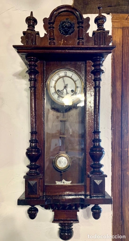 Relojes de pared: ANTIGUO RELOJ DE PARED - Foto 2 - 181037102