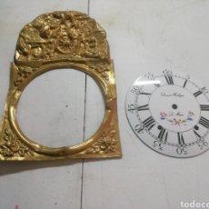 Relojes de pared: FRONTAL Y ESFERA DE RELOJ. Lote 182094325