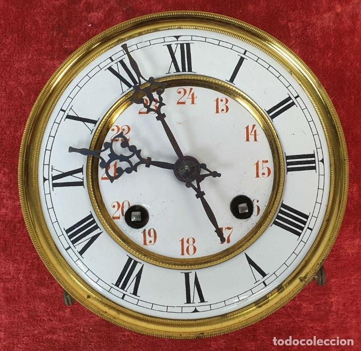 Relojes de pared: RELOJ DE PARED. MADERA. ESTILO ALFONSINO. MAQUINARIA SUIZA. SIGLO XIX-XX. - Foto 11 - 182265856