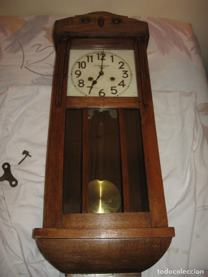 Relojes de pared: Reloj de pared maquinaria junghans - Foto 2 - 182282976