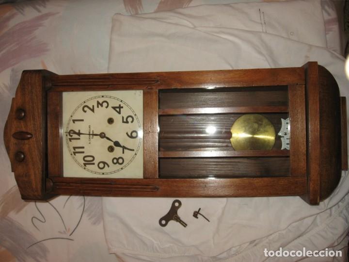 Relojes de pared: Reloj de pared maquinaria junghans - Foto 3 - 182282976