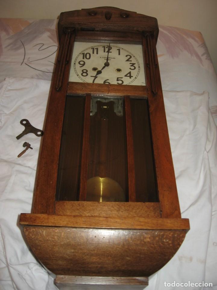 Relojes de pared: Reloj de pared maquinaria junghans - Foto 5 - 182282976