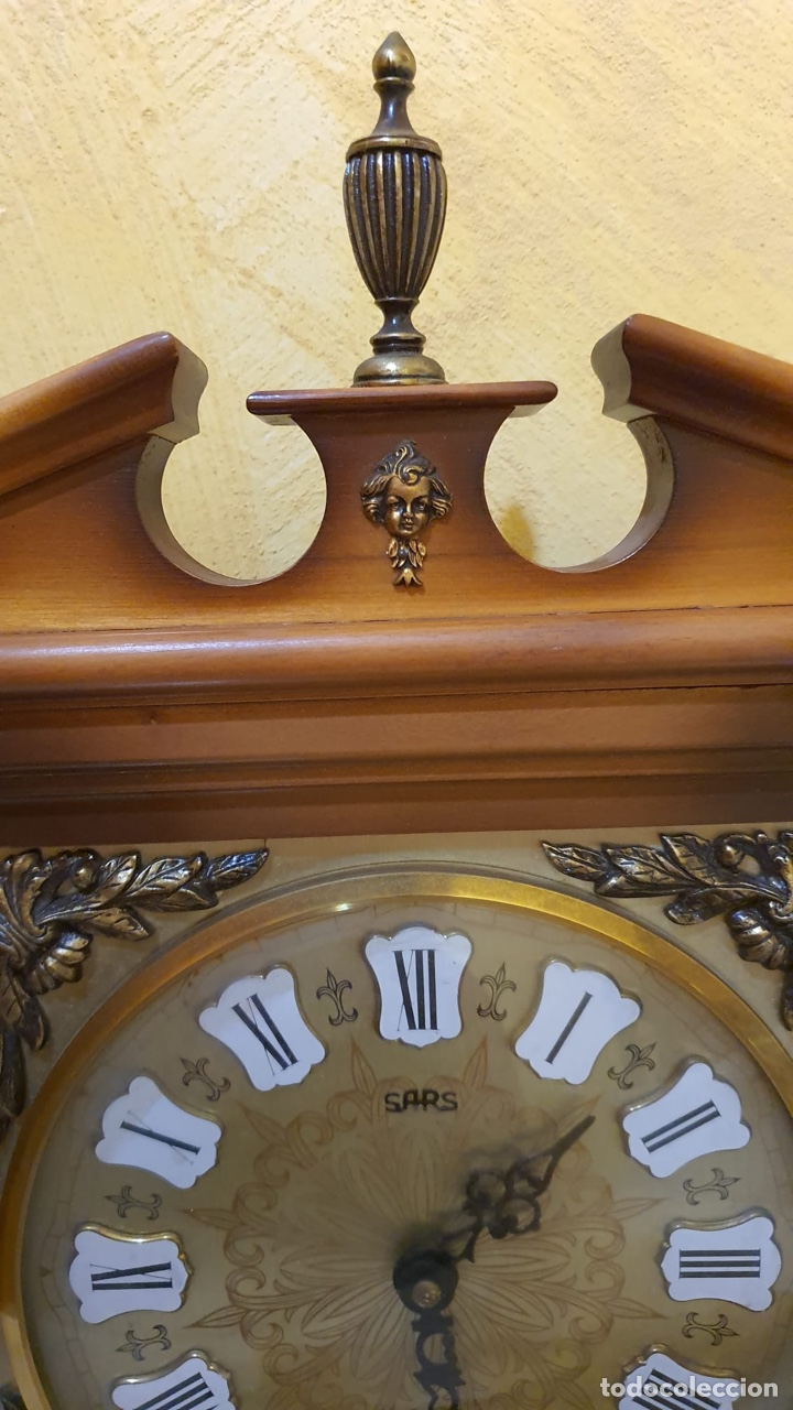 Relojes de pared: Reloj de pared marca sars, funcionando - Foto 3 - 182370807
