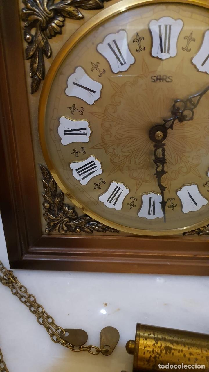 Relojes de pared: Reloj de pared marca sars, funcionando - Foto 4 - 182370807