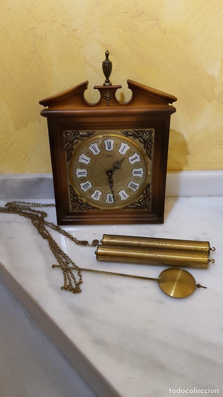 RELOJ DE PARED MARCA SARS, FUNCIONANDO (Relojes - Pared Carga Manual)
