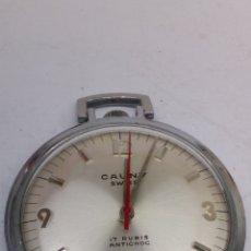 Relojes de pared: RELOJ DE BOLSILLO CAUNY PRIMA EN ACERO COMO NUEVO. Lote 182963693
