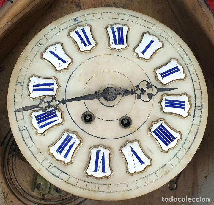 Relojes de pared: RELOJ DE PARED. OJO DE BUEY. ESTILO ISABELINO. MAQUINA PARÍS. SIGLO XIX. - Foto 3 - 183095570