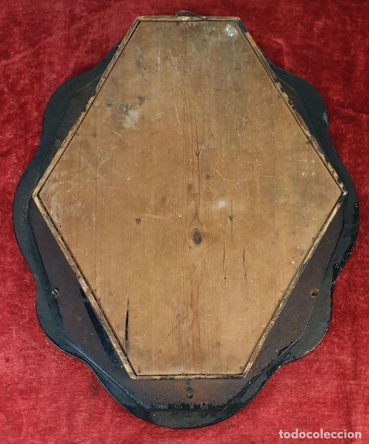 Relojes de pared: RELOJ DE PARED. OJO DE BUEY. ESTILO ISABELINO. MAQUINA PARÍS. SIGLO XIX. - Foto 12 - 183095570