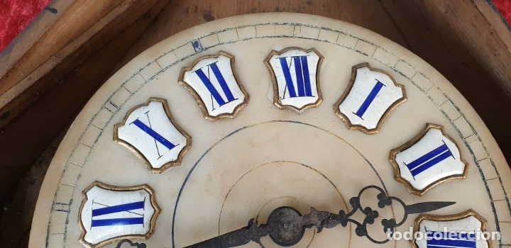 Relojes de pared: RELOJ DE PARED. OJO DE BUEY. ESTILO ISABELINO. MAQUINA PARÍS. SIGLO XIX. - Foto 13 - 183095570
