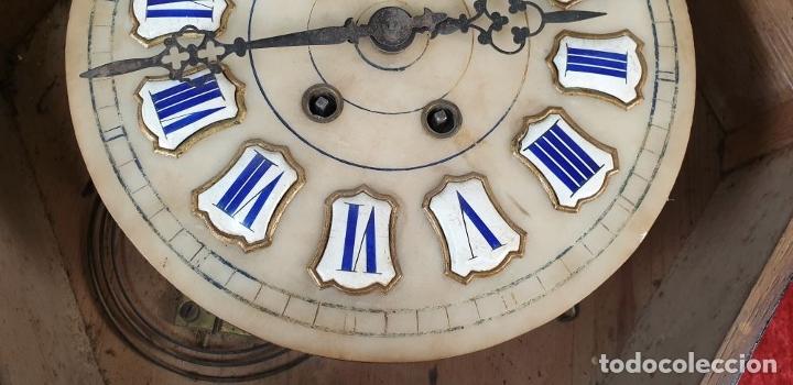 Relojes de pared: RELOJ DE PARED. OJO DE BUEY. ESTILO ISABELINO. MAQUINA PARÍS. SIGLO XIX. - Foto 14 - 183095570