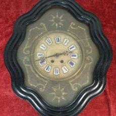 Relojes de pared: RELOJ DE PARED. OJO DE BUEY. ESTILO ISABELINO. MAQUINA PARÍS. SIGLO XIX. . Lote 183095570