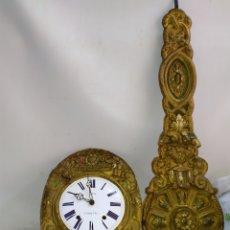 Relojes de pared: ANTIGUO RELOJ MOREZ PENDULO REAL MUY DETALLADO SIGLO XIX SONERIA DE BORDÓN. Lote 183566901