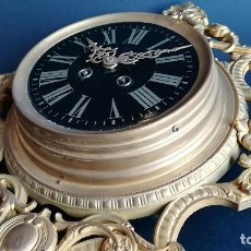 Relojes de pared: RELOJ DE PARED BRONCE DORADO. Lote 184008827
