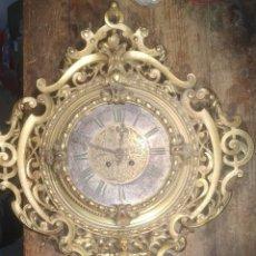 Relojes de pared: RELOJ ANTIGUO DE PARED GUSTAV BEQUER 52CM BRONCE RESTAURAR. Lote 184183228