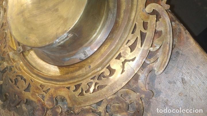 Relojes de pared: RELOJ ANTIGUO DE PARED GUSTAV BEQUER - 52cm - BRONCE MACIZO - RESTAURAR - Foto 7 - 184183228