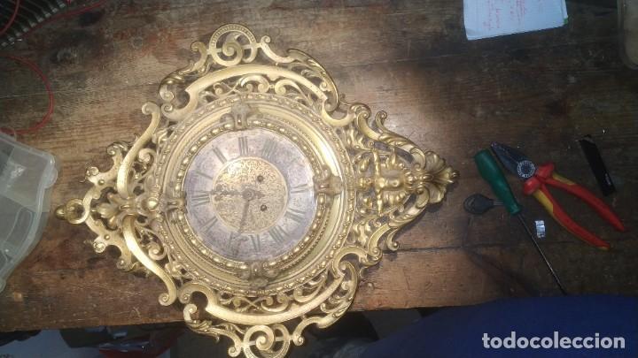 Relojes de pared: RELOJ ANTIGUO DE PARED GUSTAV BEQUER - 52cm - BRONCE MACIZO - RESTAURAR - Foto 9 - 184183228