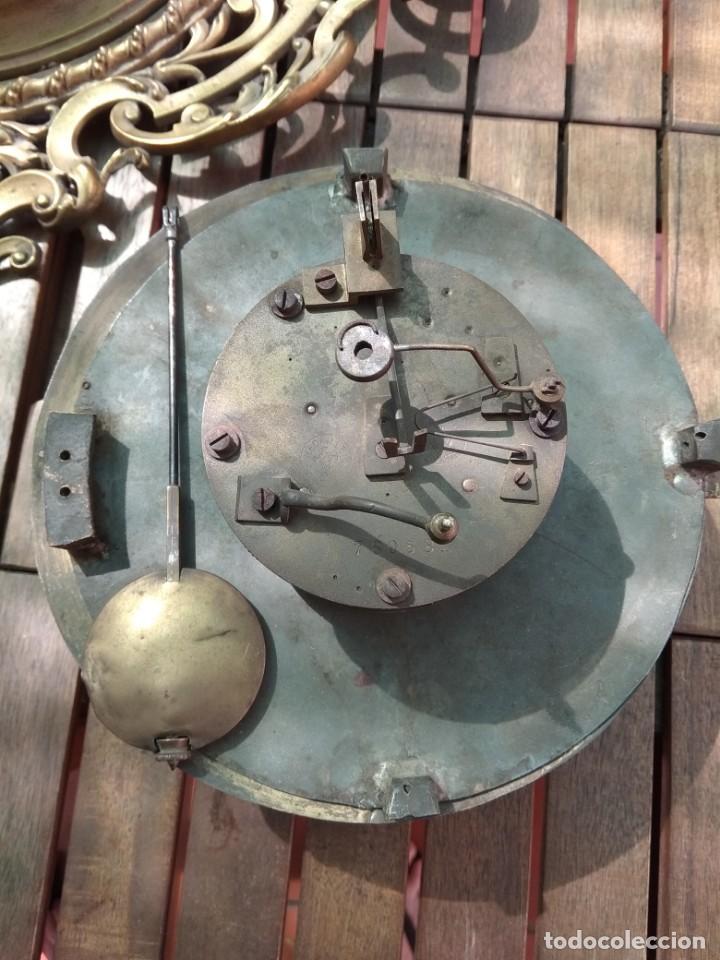 Relojes de pared: RELOJ ANTIGUO DE PARED GUSTAV BEQUER - 52cm - BRONCE MACIZO - RESTAURAR - Foto 13 - 184183228