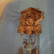 Relojes de pared: RELOJ DE CUCUT CUCU COMPLETO MADERA TALLADO TALLA MAQUINARIA. Lote 184314948