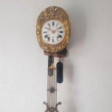 Relojes de pared: RELOJ MOREZ ANTIGUO MUY DETALLADO PENDULO RARÍSIMO BUEN ESTADO FUNCIONA ALTA COLECCIÓN. Lote 186023132