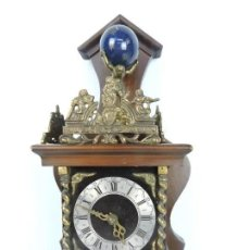 Relojes de pared: ANTIGUO RELOJ HOLANDES ZAANCE. Lote 186089055