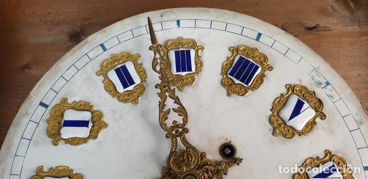Relojes de pared: RELOJ ESTILO ISABELINO. MAQUINARIA FRANCESA. ESFERA DE ALABASTRO. SIGLO XIX. - Foto 17 - 186319543