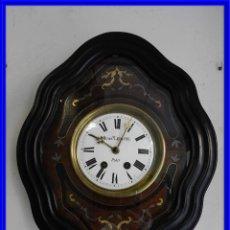 Relojes de pared: RELOJ DE PARED ANTIGUO CON MARQUETERIA FIRMADO HENRY LEPAUTE S. XIX. Lote 187432133