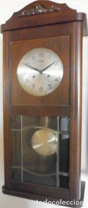 RELOJ DE PARED FRANS HERMLE MADERA DE ROBLE MEDIADOS DEL SIGLO XX SONERIA , HORAS Y MEDIAS CON AVISO (Relojes - Pared Carga Manual)