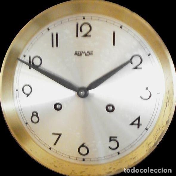 Relojes de pared: Reloj de pared Frans Hermle Madera de roble mediados del siglo xx Soneria , horas y medias con aviso - Foto 2 - 187589336
