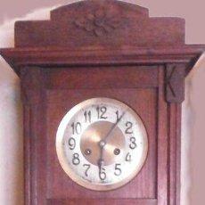 Relojes de pared: RELOJ DE PARED MECÁNICO FRIEDRICH MAUTHE MADERA DE ROBLE PRINCIPIOS DEL SIGLO XX ART DÉCO. Lote 187595718