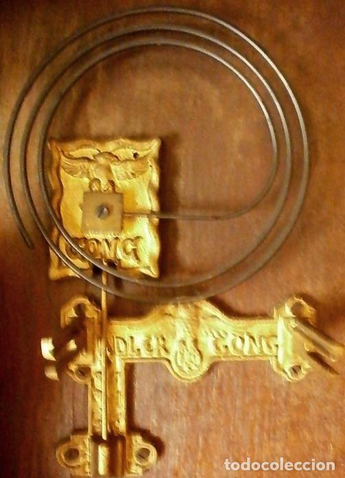 Relojes de pared: Reloj de pared mecánico Friedrich Mauthe madera de roble Principios del siglo XX Art Déco - Foto 3 - 187595718