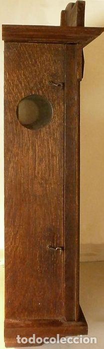 Relojes de pared: Reloj de pared mecánico Friedrich Mauthe madera de roble Principios del siglo XX Art Déco - Foto 4 - 187595718