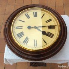 Relojes de pared: ANTIGUO Y GRAN RELOJ DE ESTACIÓN WINTERHALDER Y HOFMEIER ALEMANIA.72 DE DIAMETRO. Lote 187963932
