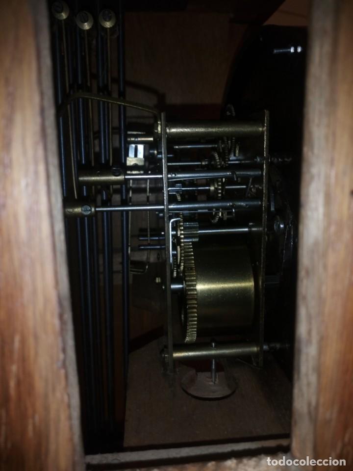 Relojes de pared: antiguo reloj carga manual fms alemania,funcionando con su llave original,puerta con vidriera - Foto 8 - 189141605