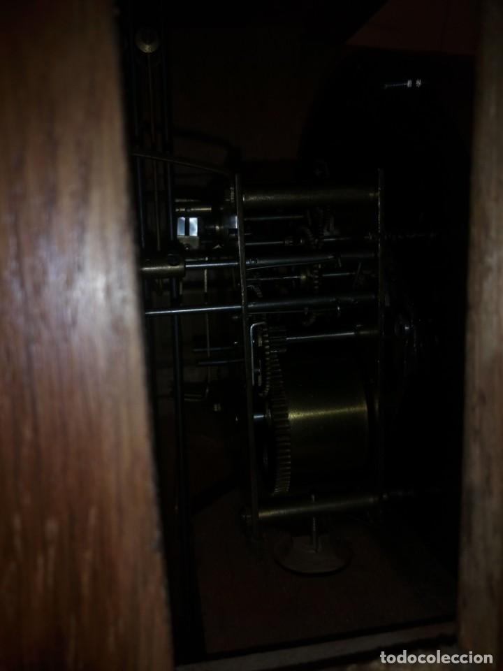Relojes de pared: antiguo reloj carga manual fms alemania,funcionando con su llave original,puerta con vidriera - Foto 9 - 189141605